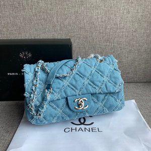 Chanel vintage denim shoulder bag